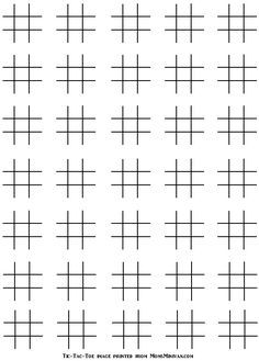 Made by Flipper | Tic Tac Toe Game Printables | Pinterest | Tic tac ...