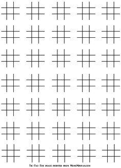 Blank Printable Tic Tac Toe Sheets Printables for Kids free word