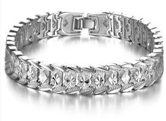 This is a thick, 925 sterling silver bracelet for modern guys who want a high end style, and a cool designed bracelet!