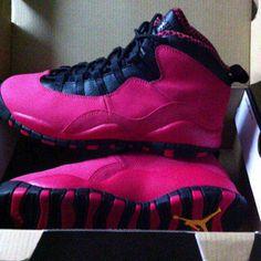 Pink and Black Jordan's | Air Jordan 10 GS – Pink / Black First Look