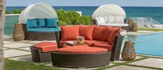 Read a book or take a nice nap... Malibu Day Bed - CarlsPatio.com #patiofurniture #malibudaybed