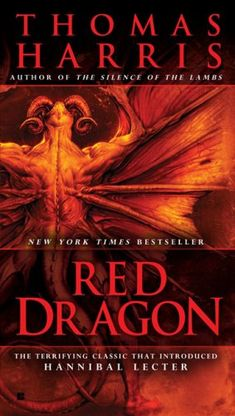 Red Dragon by Thomas Harris is the first book in the Hannibal Lecter series that became a best seller and later a blockbuster movie series with Anthony Hopkins. A good mystery and suspense novel.