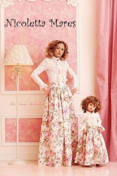 Одежда, мода, красиво, мама и дочка, юбка, moda, girls
