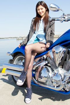 [写真] 【2013春、HOPE美女】レースクイーンとしても活躍中の美人女性ライダー・采女 華(週プレNews) - エキサイトニュース