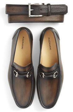 Magnanni Belt & Bit Loafer (Men) available at #Nordstrom