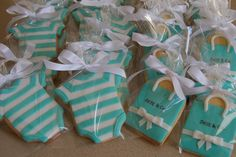 Tiffany's inspired baby shower cookies