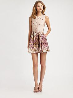 RED Valentino Floral-Print Sheath Dress