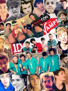 hey guys, I made this collage it took me almost an hour. these are all my fav people so I hope you like it :-)  magcon boys ♡ one direction ♡ the vamps ♡ luke hemmings ♡ dem white boyz ♡  enjoy bby.  give me credit, yeah?