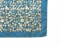 Vintage Liberty of London Blue Floral Silk Scarf by 4birdsvintage