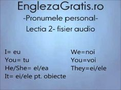 Pronumele personal- engleza- fara profesor