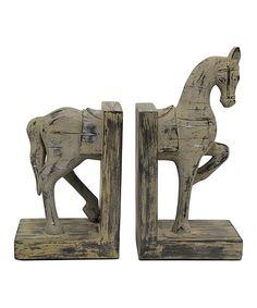 Look at this #zulilyfind! Horse Bookends by Three Hands Corporation #zulilyfinds