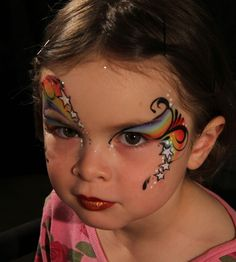 Abbie's unicorn face painting idea... Change up the colors... Stars could go...