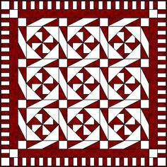 Wheeling Triangles - Paper pieced but do-able without paper... I love the sashing and how it forms a secondary pattern.