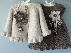 Knitting PATTERN Baby Jacket Crochet PATTERN Baby Dress Baby Cardigan Baby Girl Pattern Baby Outfit Newborn Baby Girl Clothes Pattern PDF – Knitting patterns, knitting designs, knitting for beginners. Cardigan Bebe, Crochet Baby Cardigan, Knit Baby Dress, Knit Baby Sweaters, Knitted Baby, Knit Crochet, Crochet Jacket, Newborn Crochet, Cardigan Pattern