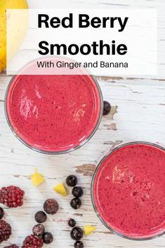 Fresh root ginger adds a delicious touch of heat to this pretty red berry smoothie. Made with frozen berries, banana, ginger and yogurt, it's an invigorating smoothie to help you feel healthy and energetic! So why not start a smoothie habit today?