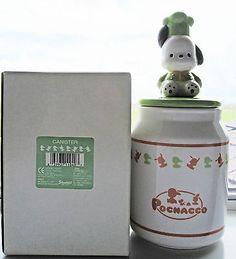 Sanrio Pochacco (Hello Kitty) Ceramic Canister~KAWAII!! Pochacco, Sanrio, Hello Kitty, Jar, Kawaii, Ceramics, Kitchen, Home Decor, Hall Pottery