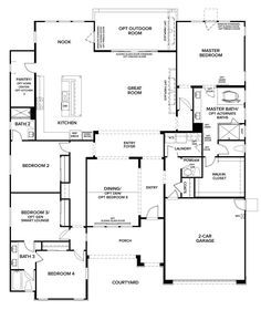 Spanish style homes – Mediterranean Home Decor House Plans One Story, Family House Plans, New House Plans, Dream House Plans, House Floor Plans, Dream Houses, Pardee Homes, Woodworking Desk Plans, Woodworking Chisels
