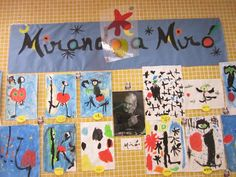 coleferroviario: MIRANDO A MIRÓ Projects For Kids, Art Projects, Crafts For Kids, Arts And Crafts, Flamenco Party, Artist Project, Spanish Art, Ecole Art, Mondrian