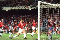 Ole's winner against Bayern Munich 1999 Champion's League Final in Barcelona. Manchester United Legends, Manchester United Players, Bobby Charlton, Bristol Rovers, Live Matches, European Cup, Man United, Goalkeeper, Club