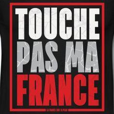 t shirt noir homme Humour Touche pas ma France - Tee shirt Homme