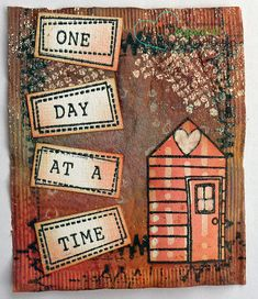 Teabag Art featuring a Unity Stamp Company kit - What Matters Most. #unitystampcompany #mixedmedia #teabagart #house #home