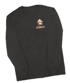 Adult Shirts and Sweatshirts - Long-sleeved Fire Scene T American Meadows, Smokey The Bears, Firefighter, Scene, Hero, Sweatshirts, Mens Tops, T Shirt, Black
