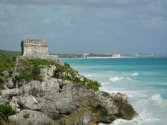 Tullum amazing ruins located right along the Carribean Ocean.