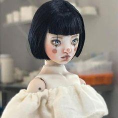 In progress Little Maya-Forgotten Hearts Gothic Dolls, Clown Makeup, Creepy Dolls, Creepy Cute, Doll Repaint, Ooak Dolls, Ball Jointed Dolls, Doll Face, Mannequins