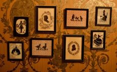 2 things: really like the wall paper and love the idea of a gallery in a small bathroom