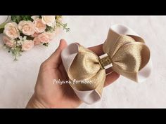 Diy Bow, Diy Ribbon, Ribbon Work, Girls Hair Accessories, How To Make Bows, Flower Making, Diy Hairstyles, Floral Arrangements, Hand Embroidery