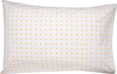 I'd love a couple of these yellow spot pillowcases from Castle and Things and a couple of the yellow flower ones as well. Too cute!