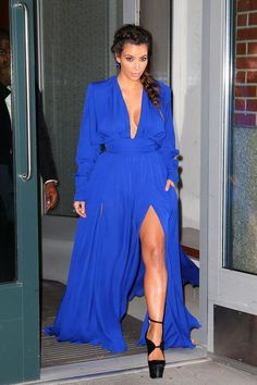 Fashionable Sexy Side Slit Blue Kim Kardashian Celebrity Dresses with Pockets Long Sleeve Dresses Evening Vestido de festa Cheap Robert Kardashian, Kim Kardashian Balmain, Kim Kardashian Wedding Dress, Kardashian Style, Kardashian Fashion, Kardashian Latest, Kardashian Shoes, Kardashian Braids, Kardashian Kollection