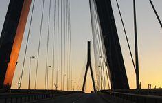 Fahrt über die Köhlbrandbrücke; Hamburg (15)