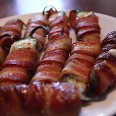 """Grilled Bacon Jalapeno Wraps I """"Love these! We cook these every time we go camping. Another variation is to stuff with extra crunchy peanut butter instead. MMM!"""""""