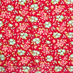 Hello Darling Red Wildflowers Yardage by Bonnie & Camille Red Wildflowers, Fabric Gifts, Christmas Fabric, Homemade Crafts, Craft Materials, Card Kit, Doll Clothes Patterns, Pattern Books, Fabric Flowers