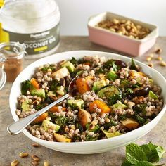 Healthy Moroccan Buckwheat salad