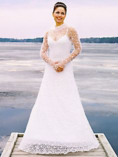 crocheted clothes | Wedding dresses » Free crochet wedding dress patterns.  WOW!