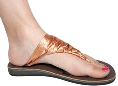Bronze Precious Metal Sandal from Sseko. Each sandal has five loops on the base for endless typing possibilities. Metallic Sandals, Material Girls, Precious Metals, Me Too Shoes, At Least, Slip On, Pairs, Flats, Clothes For Women