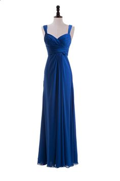 Sweetheart Straps Chiffon Dress For Bridesmaids
