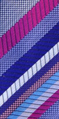 More new designs, Duchamp London ties striped lilac blue design, stand out this summer. Jacquard silk, made in England Sale $99
