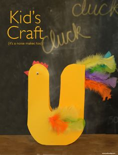 Easter Craft Noisemaker Easter Roosters These are SUCH a fun craft!