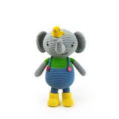 "Martin the elephant in the book ""Amigurumi Globetrotters"" by Ilaria Caliri"