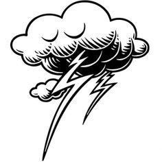 de una tormenta con nubes y rayos. Los mejores dibujos para colorear ...