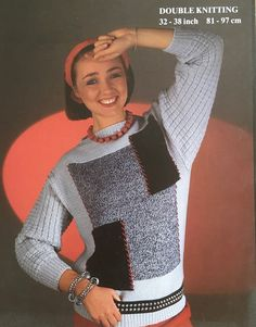 Excited to share the latest addition to my #etsy shop: 1980s Vintage Pattern for a Sweater Knitting Yarn, Knitting Patterns, Vintage Knitting, Double Knitting, 1980s, Etsy Shop, Embroidery, Sweaters, Shopping