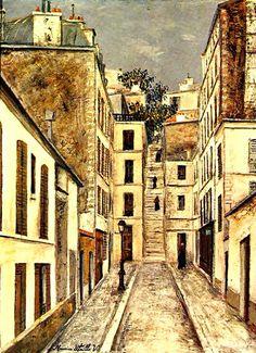 peinture : Utrillo, Maurice, 1910. Passage à Paris