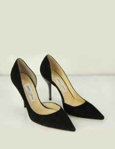 Jimmy Choo Closed Toe WIllis suede half d'orsay pumps pointed toe shoes