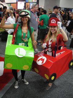 more mario kart costumes | ... Con 2011 - Mario & Luigi Mario Kart costumes | Flickr - Photo Sharing