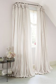 Soft Surroundings Balloon Drapery Panel - Home Decor Bohemian French Country Bedrooms, French Country Decorating, Shabby Chic Homes, Shabby Chic Decor, Shabby Chic Curtains, Vintage Decor, Farmhouse Window Treatments, Diy Home Decor, Room Decor