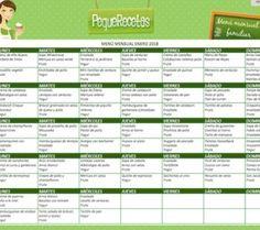Menús semanales para niños, organizados por edades, menús para niños de 1 año, menús para niños de 2 años. Kids Meal Plan, Kids Menu, Baby Food Recipes, Diet Recipes, Healthy Recipes, Healthy Food, Toddler Menu, Family Meal Planning, Eat Seasonal