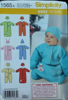 Find NEW! Simplicity 1565 Sewing Pattern Cute Baby Sleeping Bag Onesie Hat FREE POST! in the Crafts, Sewing Fabric, Sewing, Sewing Patterns category on eBay Australia.